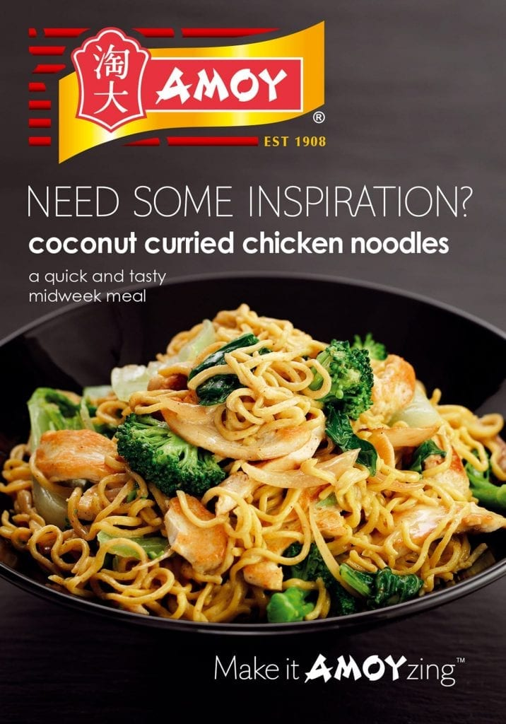 Amoy Coconut curried chicken noodles