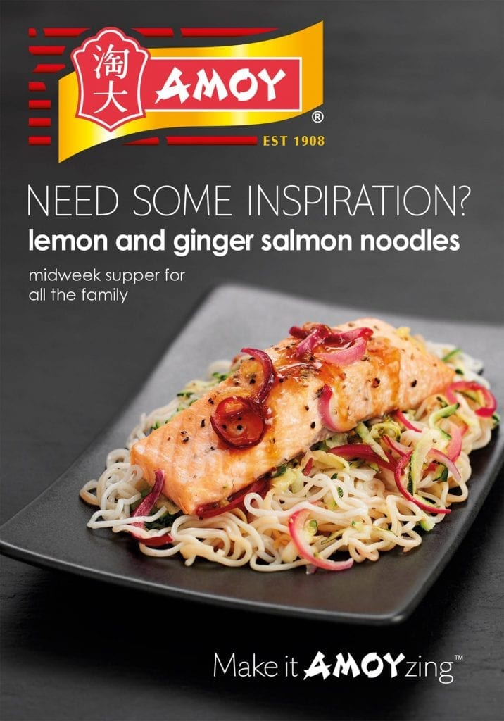 Amoy Lemon and ginger salmon noodles