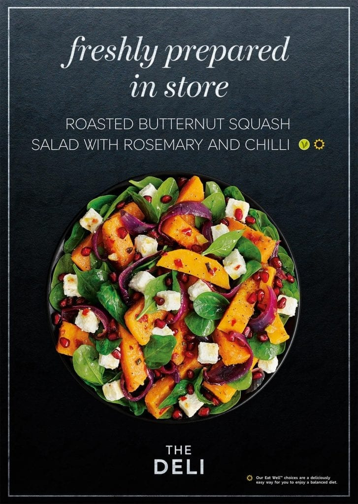 M&S Roasted butternut squash salad with rosemary and chilli