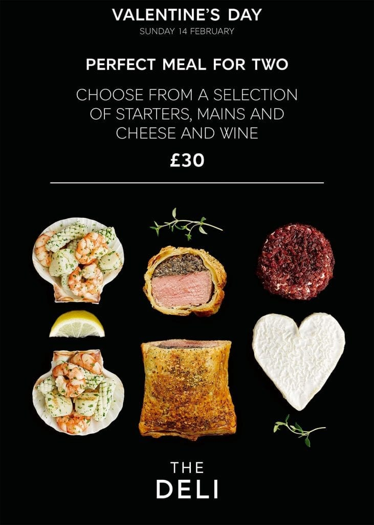 M&S Valentines Day meal for two of scallops, beef wellington and cheese
