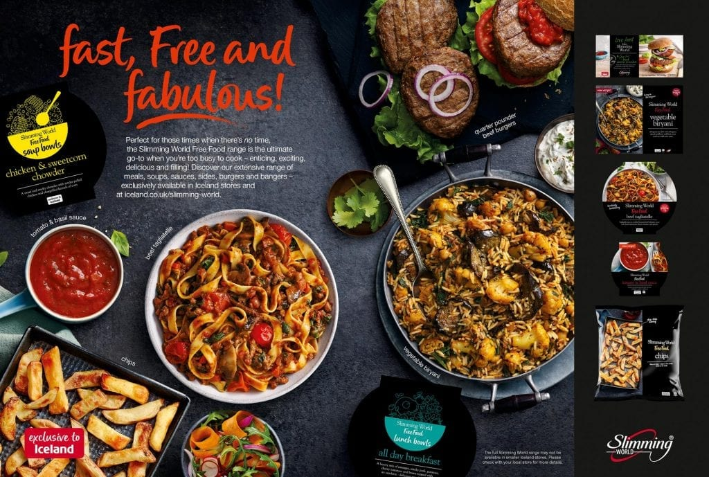 slimming world ready meals iceland advert