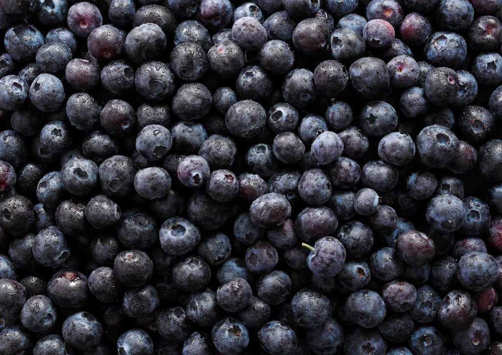 Personal shot of blueberries.