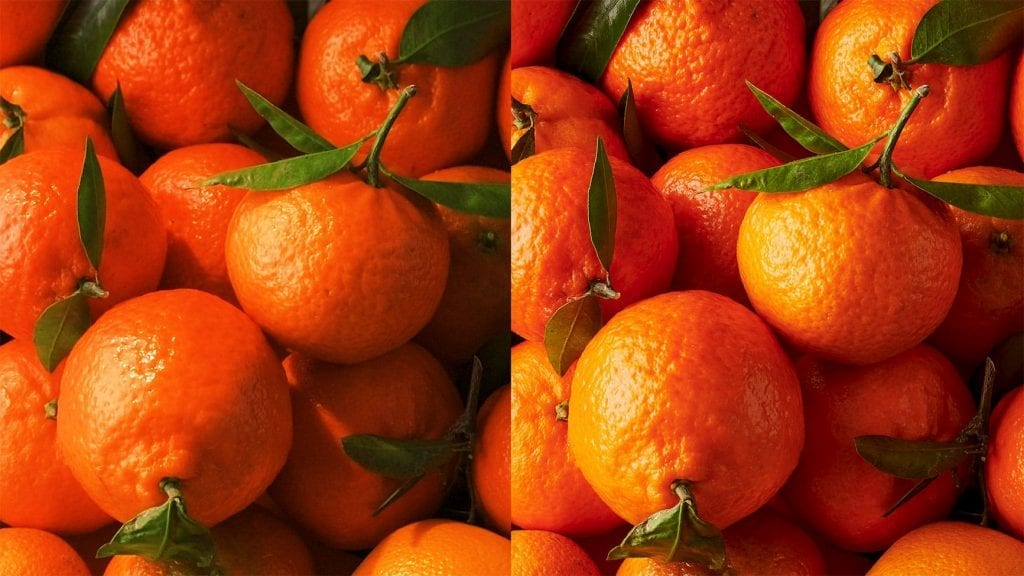Clementines HD moving image with hi-res still image