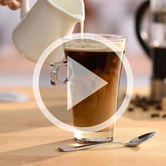 Pouring milk into a coffee cinemagraph part of my personal work
