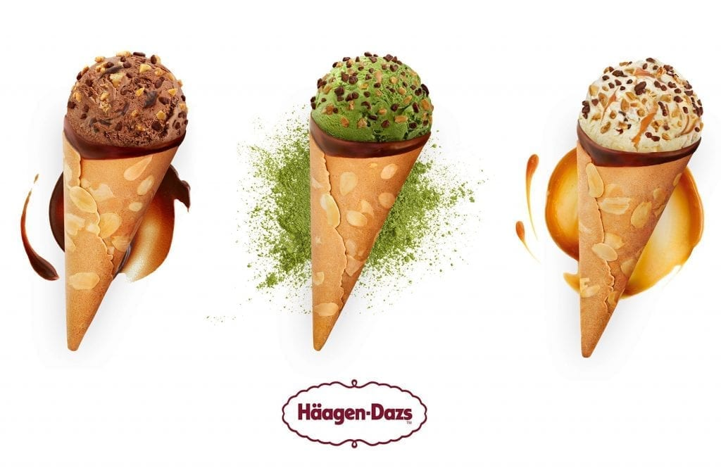 Haagen Dazs Ice cream shot for Haagen Dazs packaging