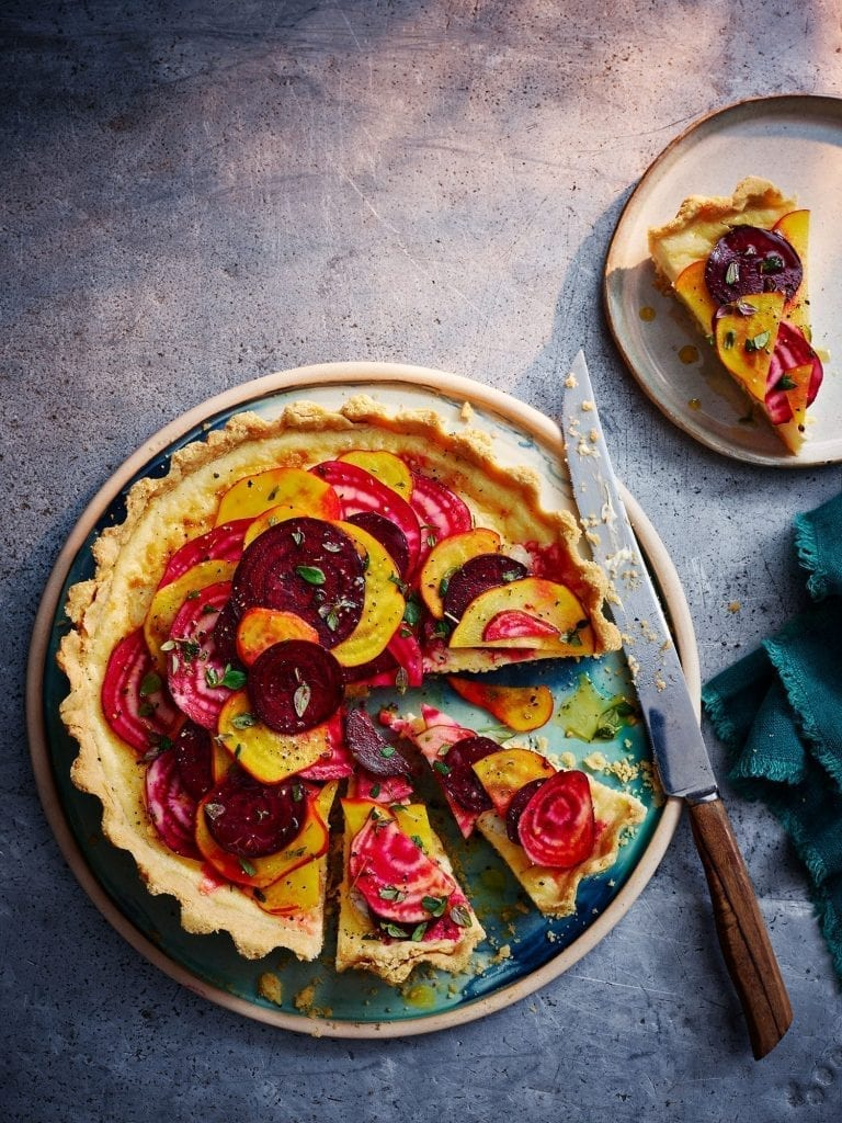 Goats Cheese Beetroot tart