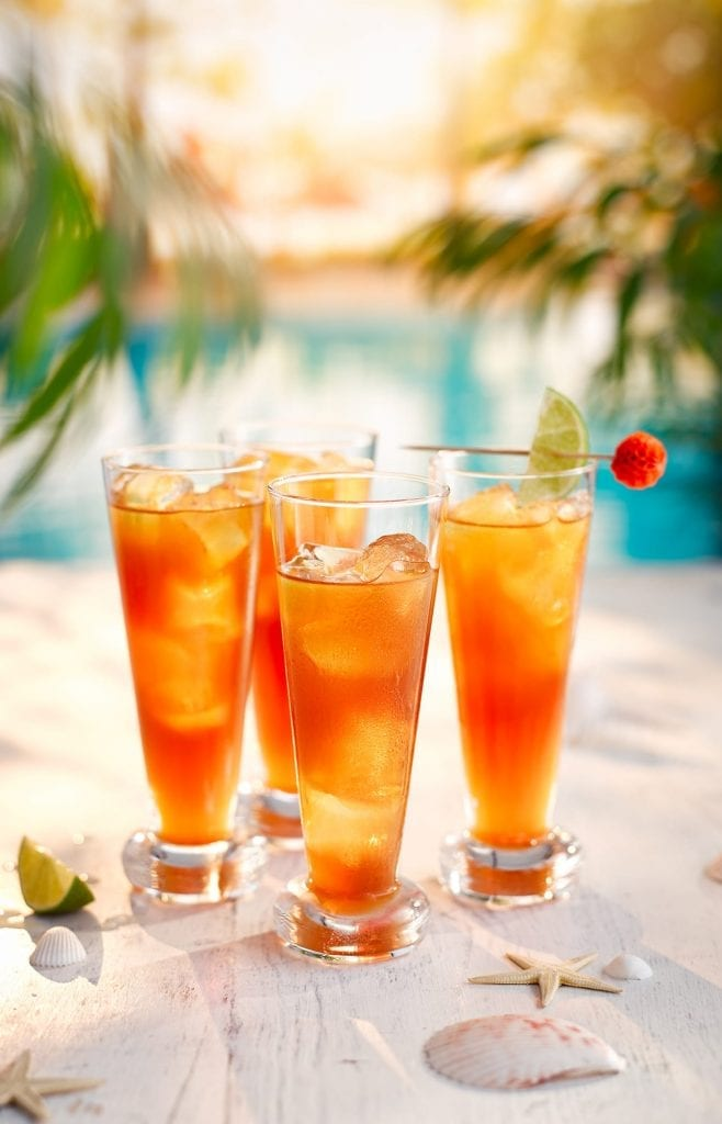 The Carribean themed Rum Punch cocktail shot for Waitrose Summer Drinks
