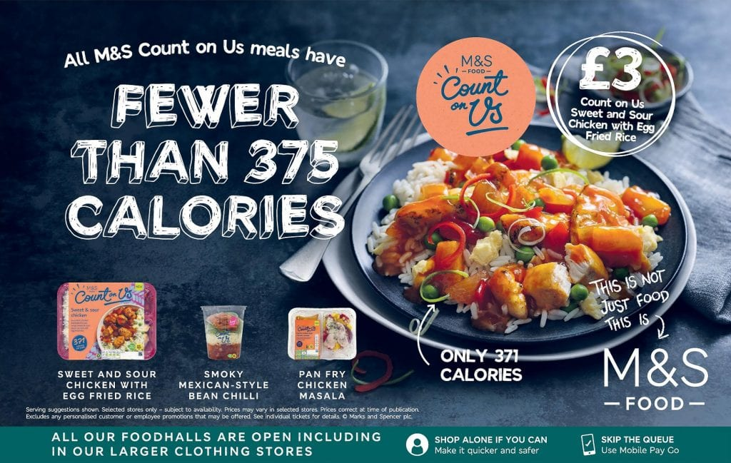M&S count on us sweet sour chicken with egg fried rice