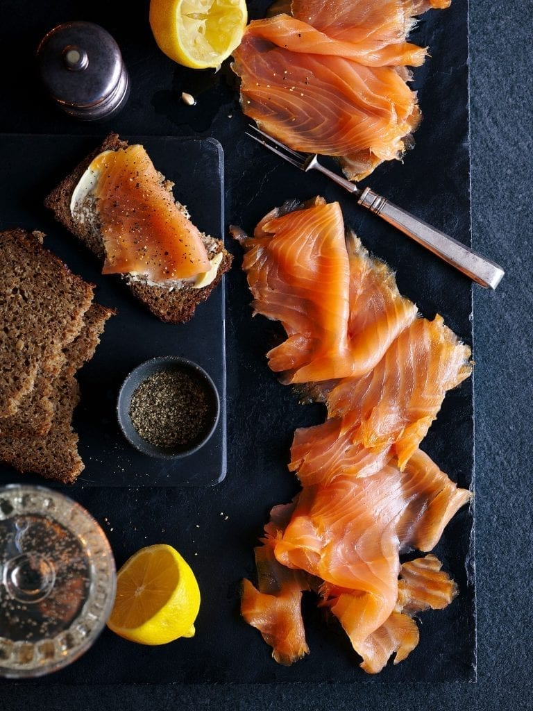 tesco christmas food to order scottish smoked salmon lemons