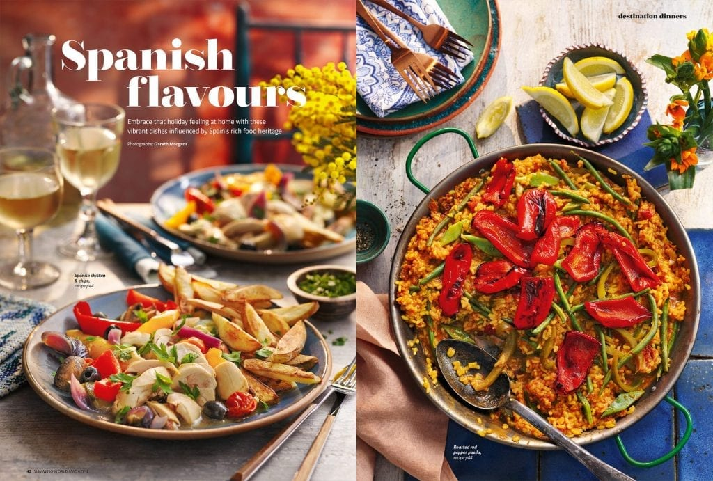 spanish flavour meals feature slimming world magazine