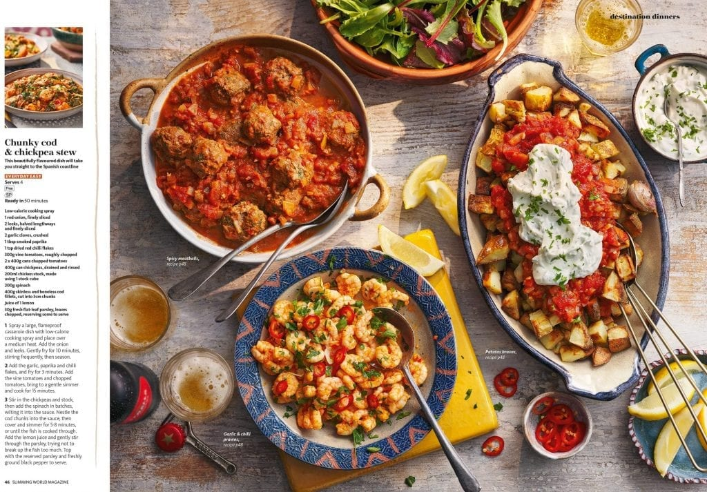 spanish meals feature slimming world magazine