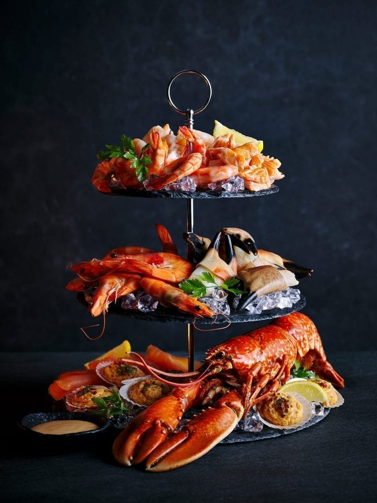 3 tier seafood platter marie rose sauce tesco food to order christmas