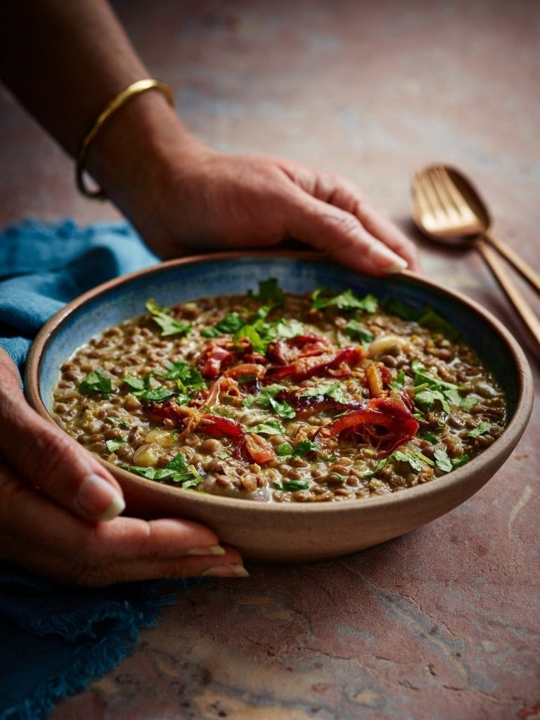 comfort food spiced brown lentils indian in 7 ingredients