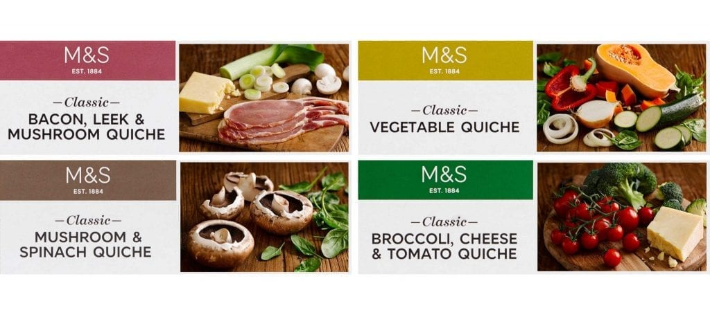 M&S Deli Pastries quiche packaging range