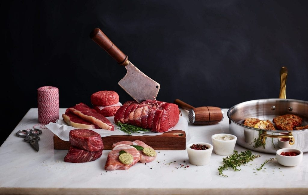 M&S various cuts of meat on butchers board