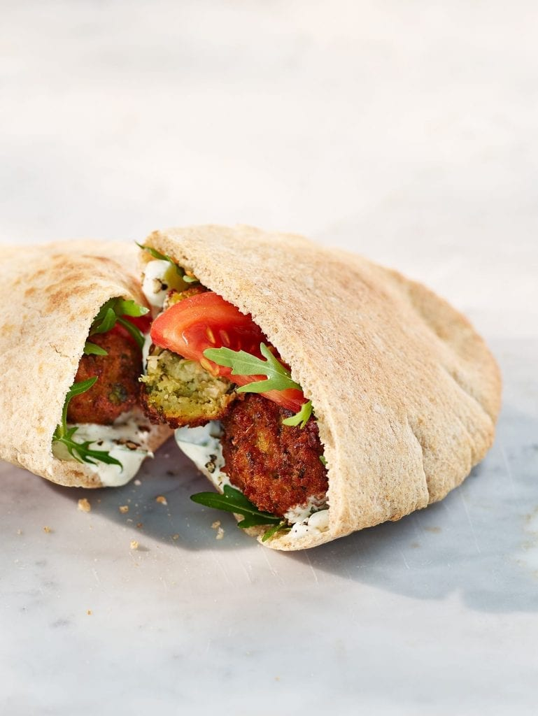M&S Wholemeal pitta with falafel