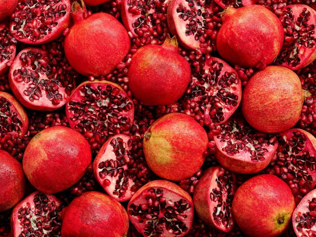 Marks and Spencer packaging of pomegranates for a Summer Food on the Move range.
