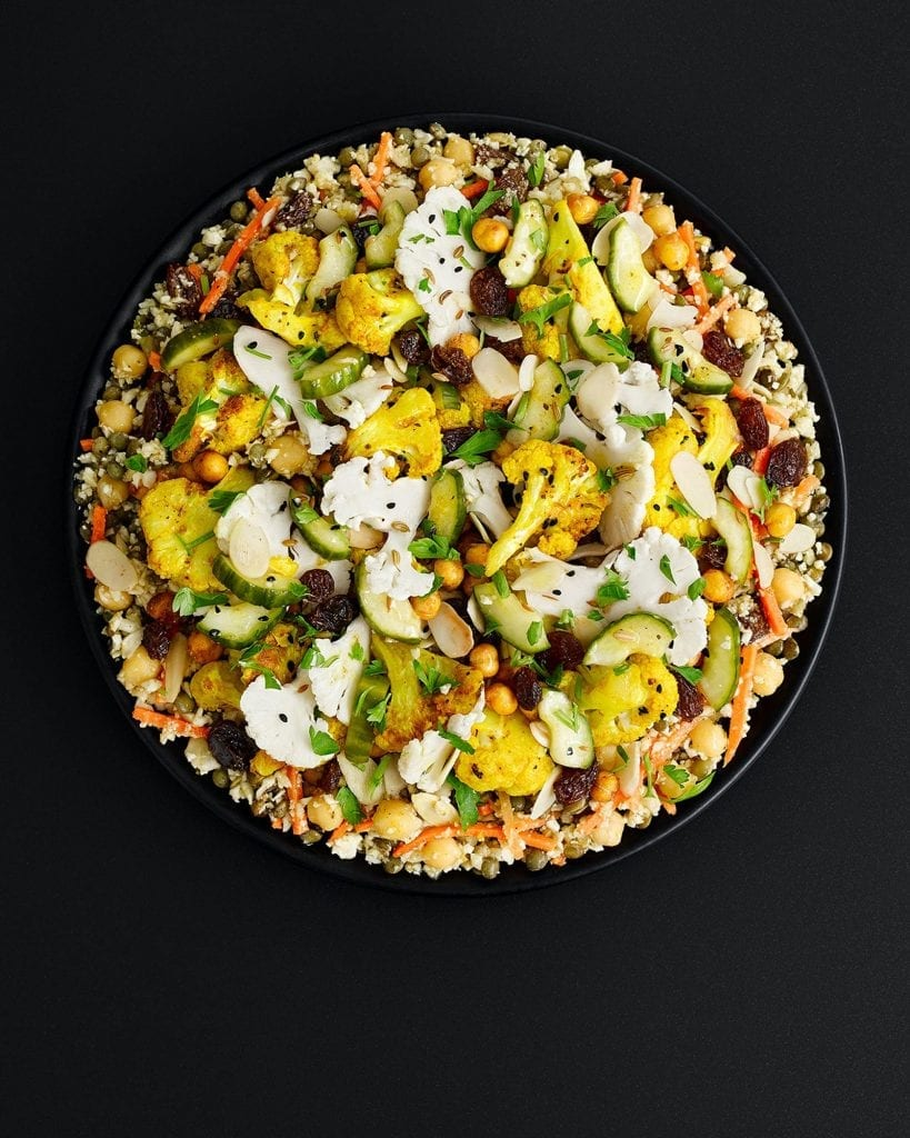 Indian Spiced Cauliflower salad for Marks and Spencer