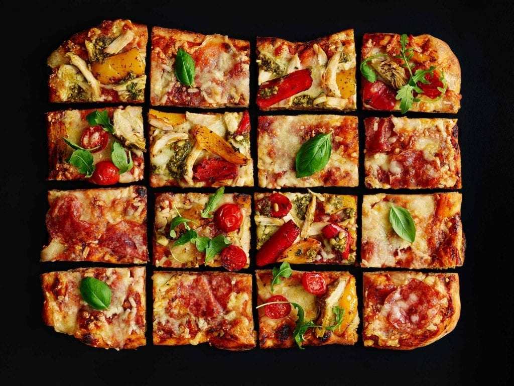food photographers London Pizza selection shot for Marks and Spencer