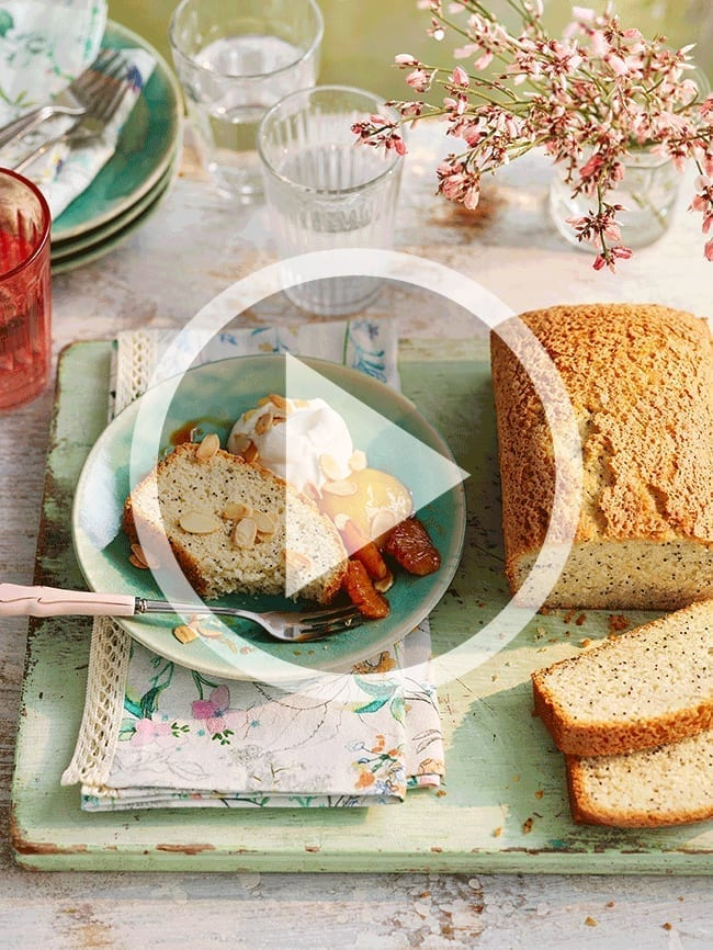 Orange and poppy seed cake GIF for Marks and Spencer within their vegetarian section online