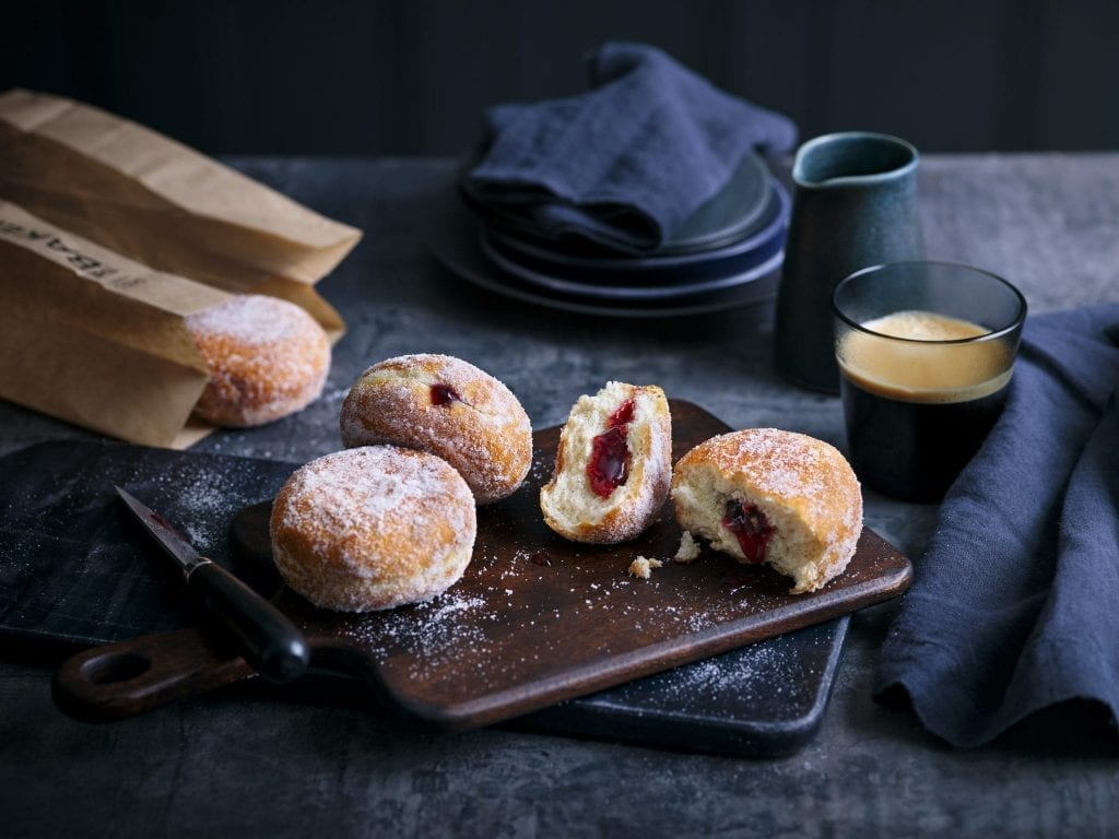 marks and spencers bakery doughnuts filled with jam