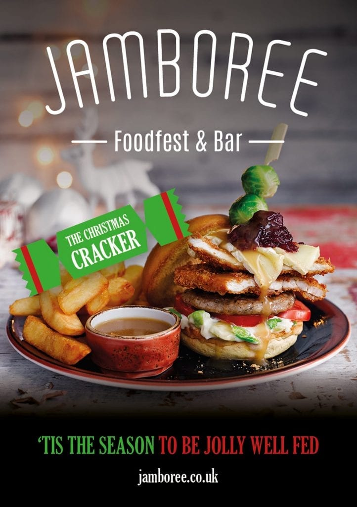 IBIS hotels Jamboree Christmas themed burger