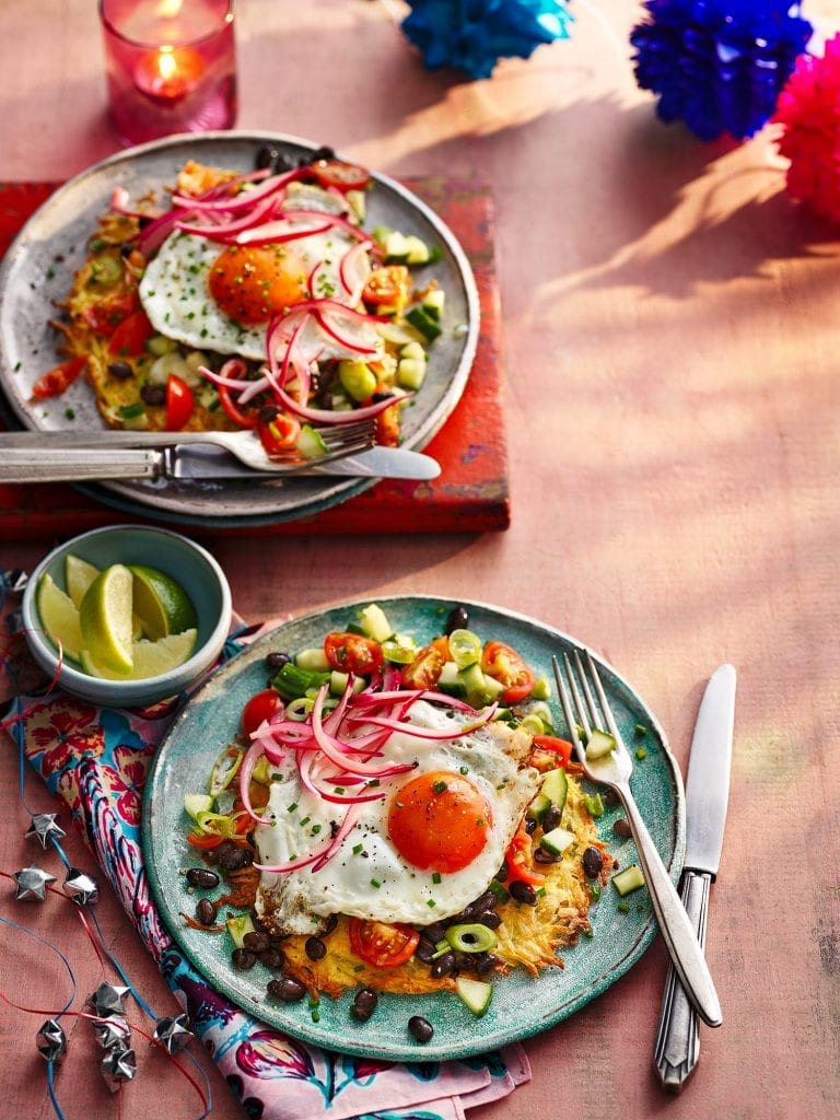 slimming world magazine march april 2021 hues rancheros with pickled onion crispy potatoes