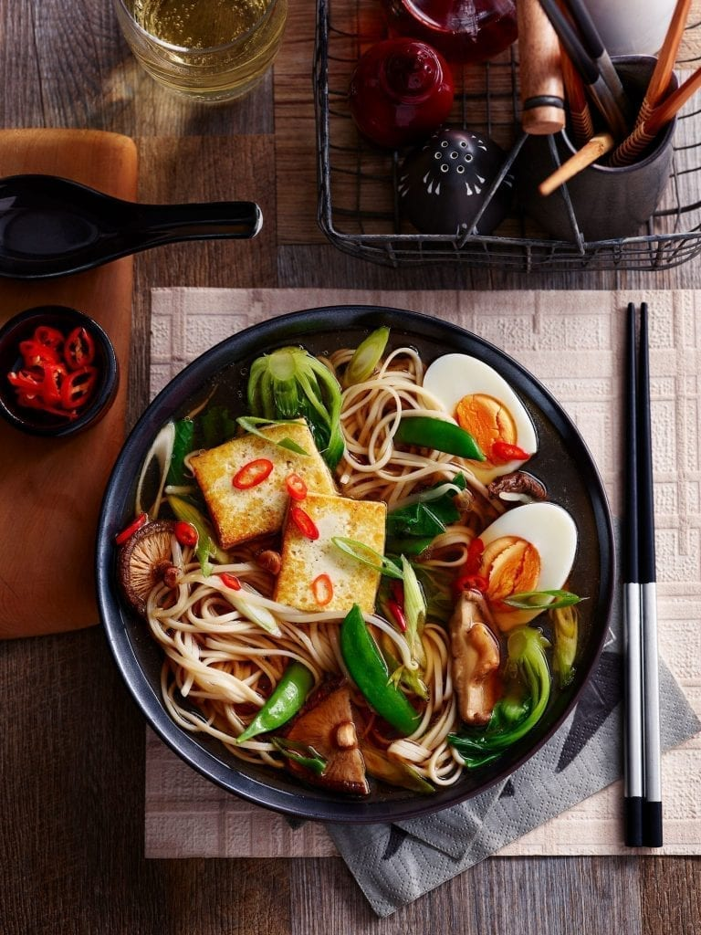 Wagamama Tofu vegetable ramen shot for Slimming World Magazine