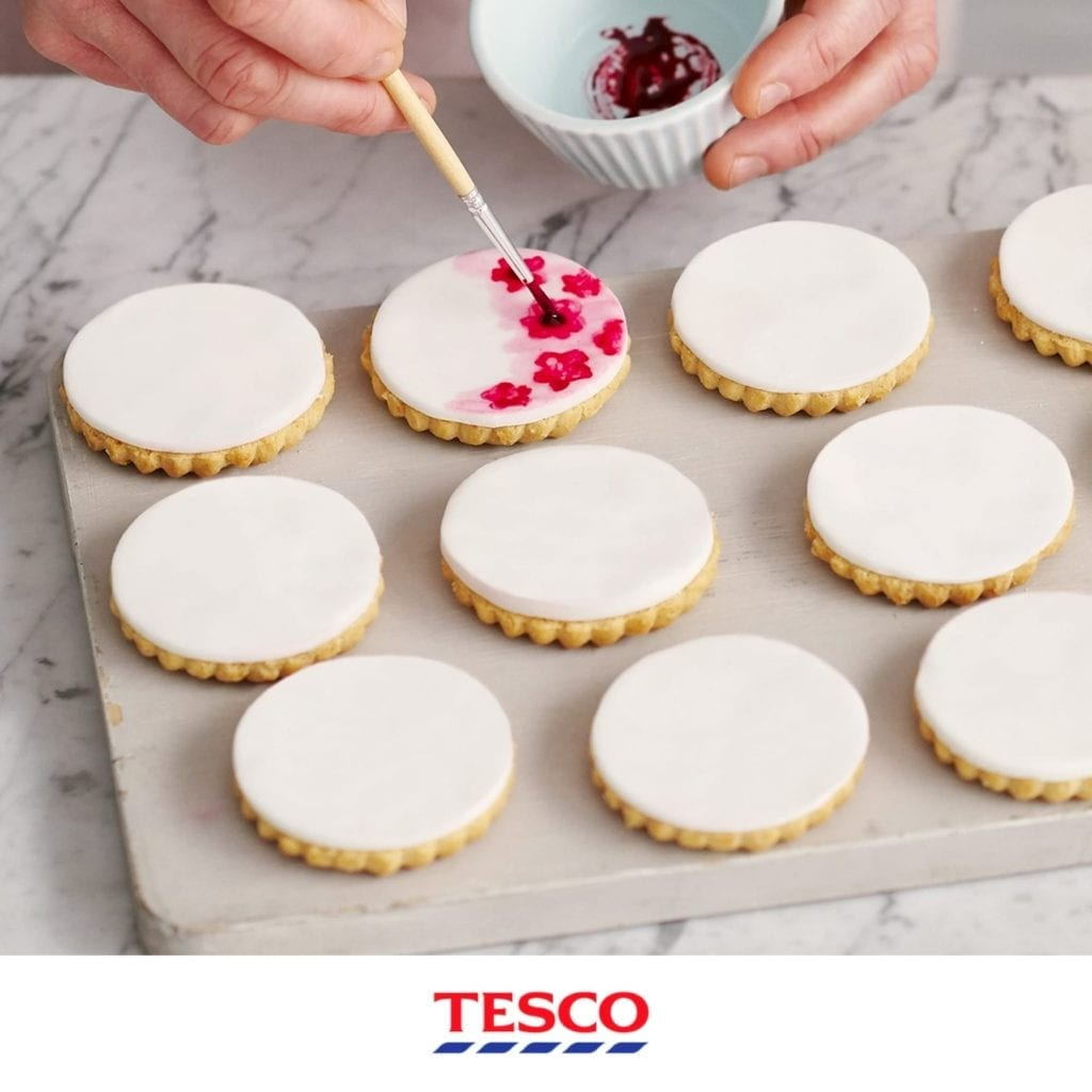 Mother's Day watercolour cookies animation shot for Tesco.