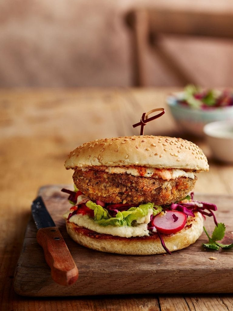 mushroom schnitzel burger for tesco