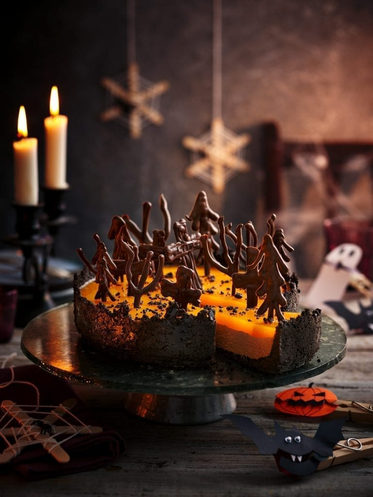 Chocolate Orange Cheesecake for halloween