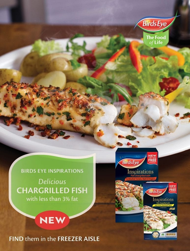 Birdseye Chargrilled fish advert to go in Tesco Magazine