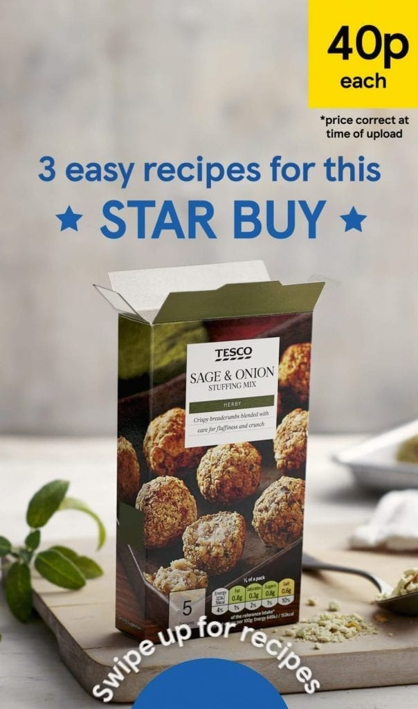 Video created for Tesco Star Buy feature on social media.