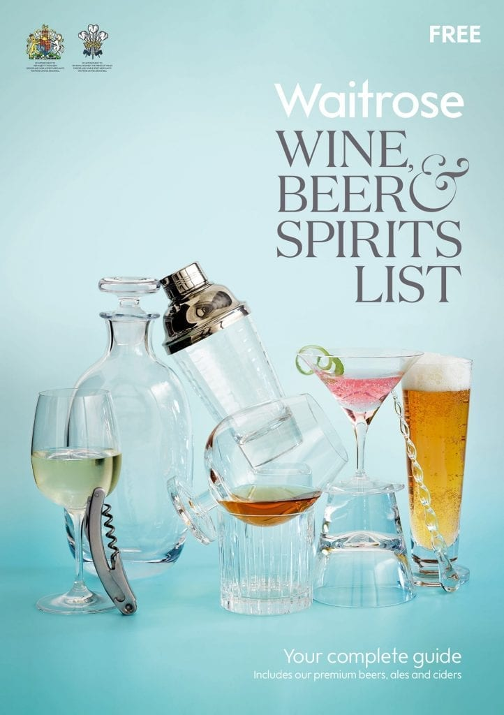 Waitrose cover of Wine Beer and Spirits guide