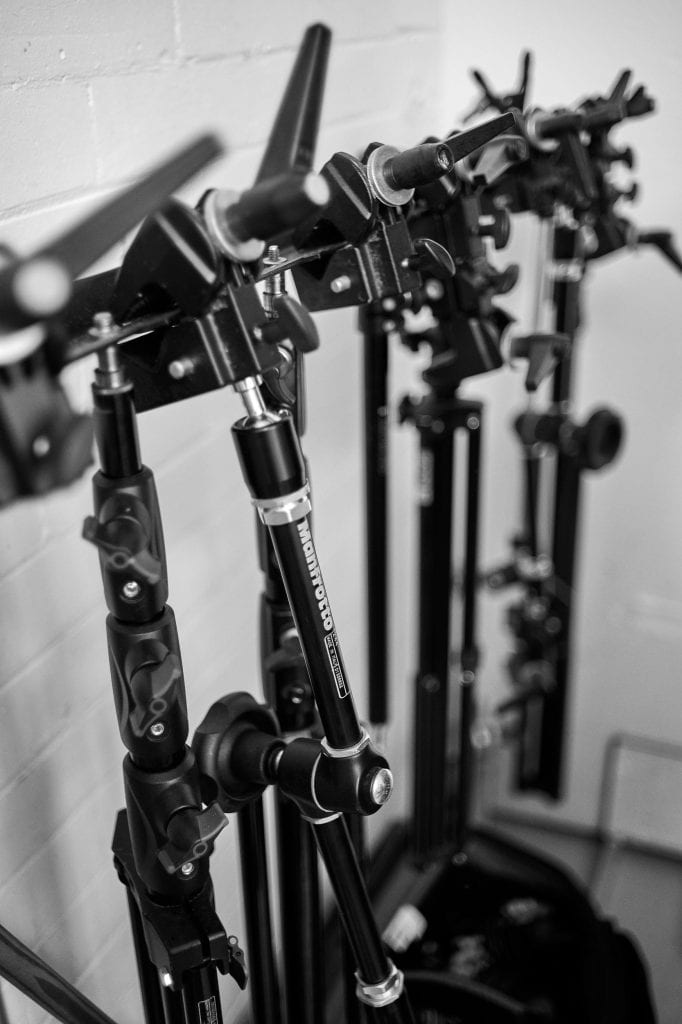 grips stands at gareth morgans photography studio